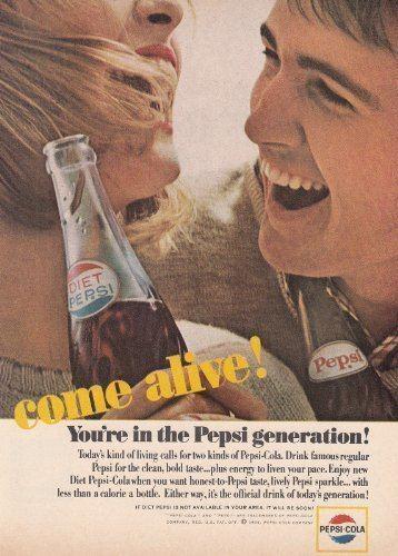 Pepsi Generation 1965 Pepsi Cola Come Alive Pepsi Generation Pepsi Print Ad