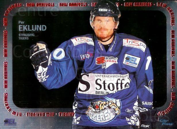 Per Eklund (ice hockey) Center Ice Collectibles Per Eklund Hockey Cards