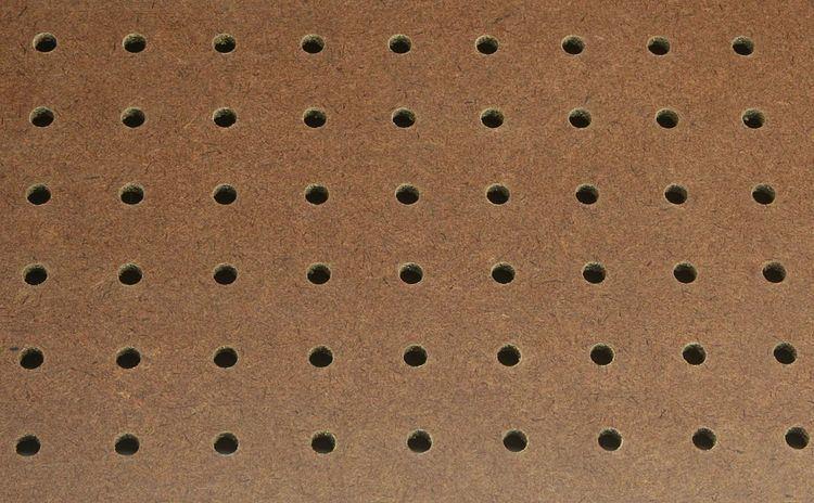 Perforated hardboard