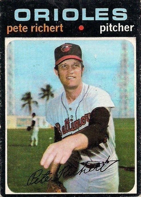 Pete Richert Topps 1971 no 273 pete richert