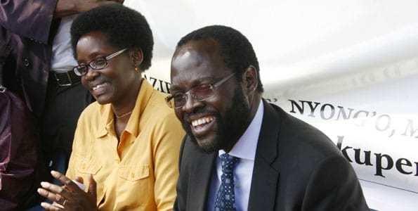 Peter Anyang' Nyong'o Lupita Nyongos Father Elected Governor in Kenya