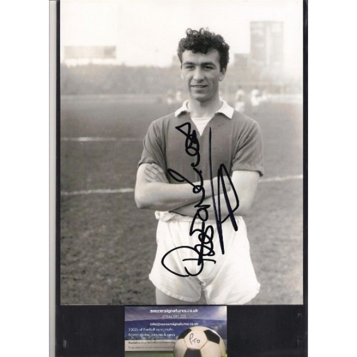 Peter Brabrook Autographed picture of Chelsea footballer Peter Brabrook