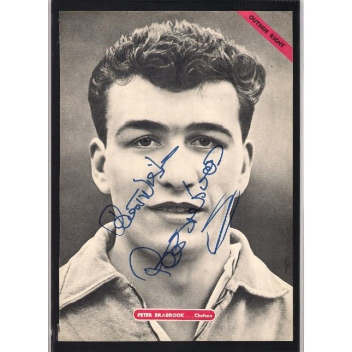 Peter Brabrook Signed picture of Peter Brabrook the Chelsea footballer