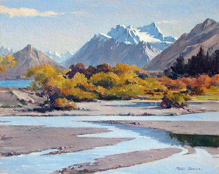 Peter Brown (New Zealand artist) Fine Art by Peter Brown Mt Earnslaw new zealand artists