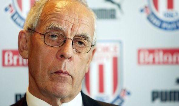 Peter Coates Stoke chairman Peter Coates optimistic about progress