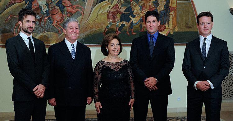Peter, Hereditary Prince of Yugoslavia TRH Prince Peter Prince Philip and Prince Alexander The