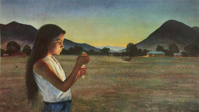 Peter Hurd Eve of Saint John by Peter Hurd Great New Mexico artist and we have