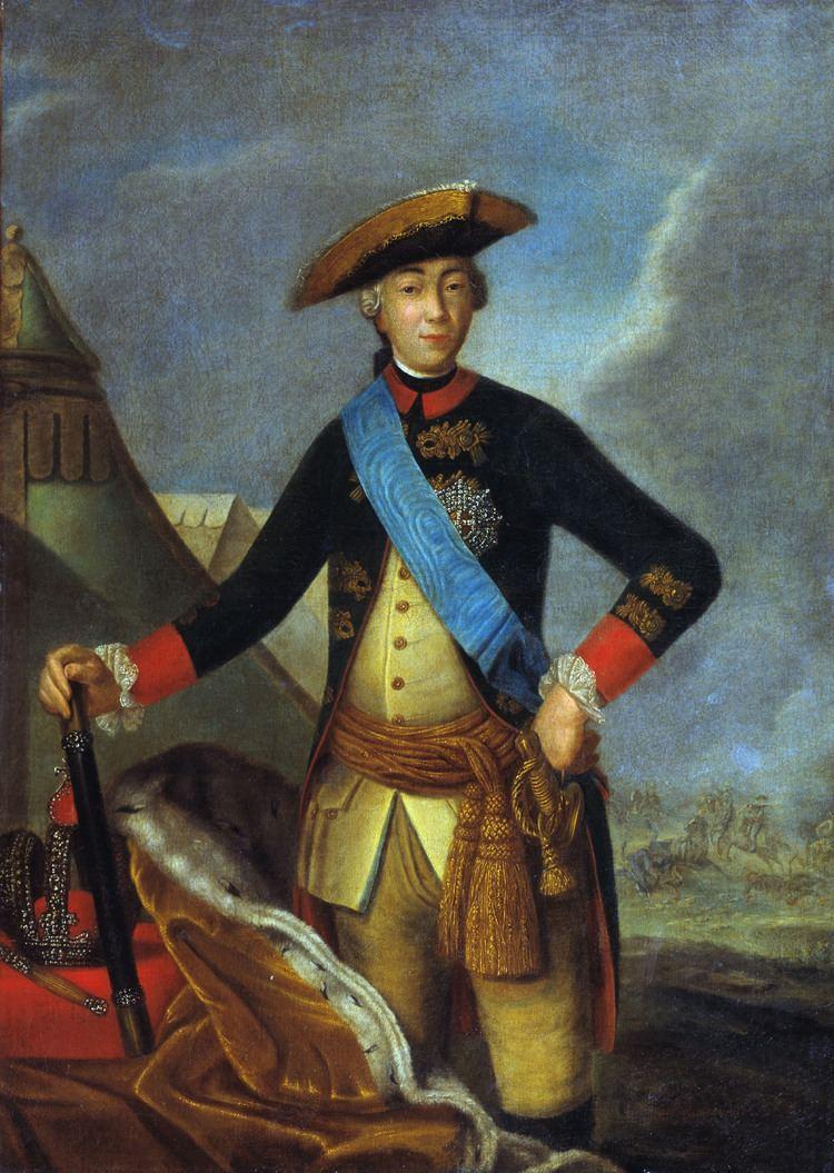 Peter III of Russia Portrait of Peter III of Russia Fyodor Rokotov WikiArtorg