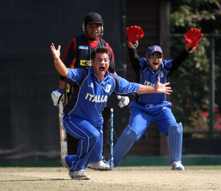 Peter Petricola Peter Petricola successfully appeals for a wicket Photo ICC