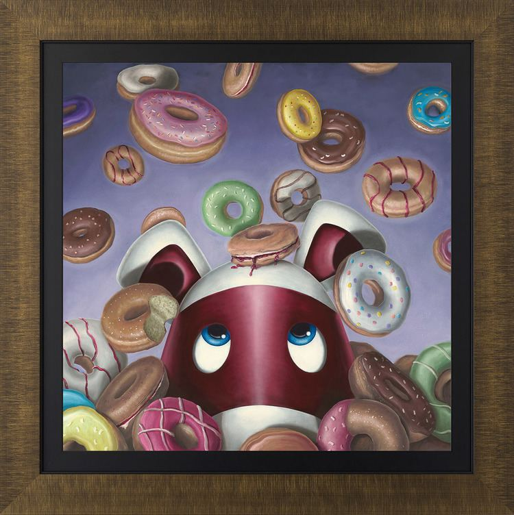 Peter Smith (painter) Donut Worry Be Happy 2016 The Peter Smith Collection Art
