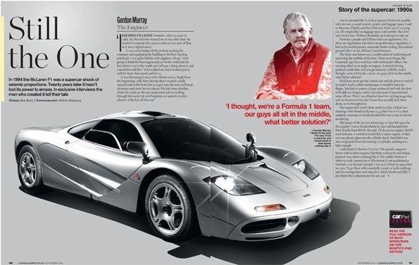 Peter Stevens (car designer) McLaren F1 the inside story by Peter Stevens Gordon
