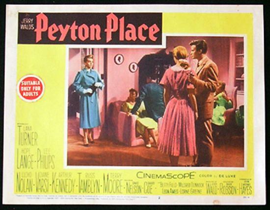 Peyton Place (film) PEYTON PLACE Lobby card 2 1957 Lana Turner Hope Lange