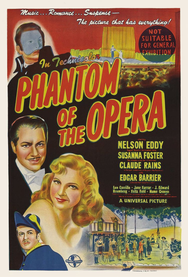 Phantom of the Opera (1943 film) Phantom of the Opera 1943