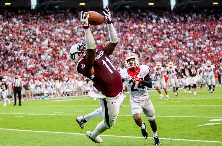 Pharoh Cooper South Carolina39s Pharoh Cooper Comes Down with TD VIDEO