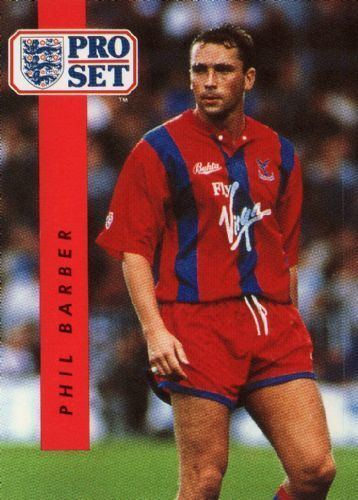 Phil Barber CRYSTAL PALACE Phil Barber 56 PROSET 1990 1991 Football Trading Card