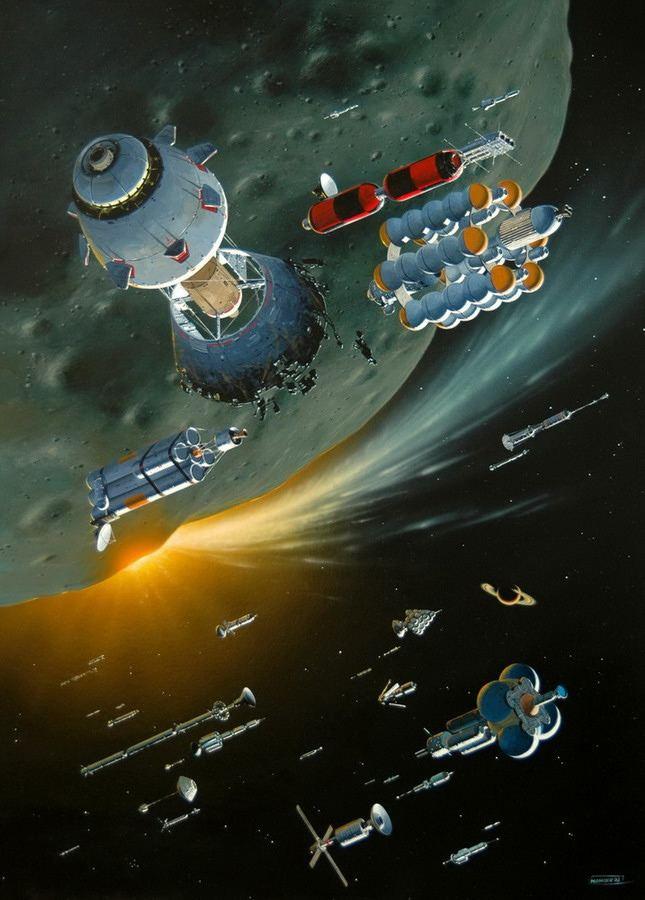 Philippe Bouchet (illustrator) MANCHU Monday Concept ships Sci fi and Artwork