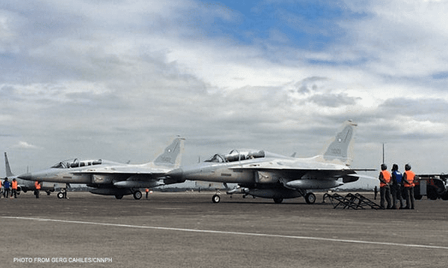 Philippine Air Force First two of 12 supersonic jets for Philippine Air Force land in