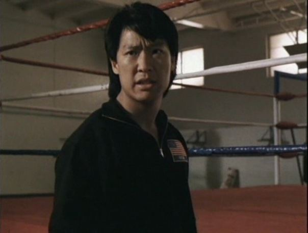 Phillip Rhee's serious face while wearing a black jacket