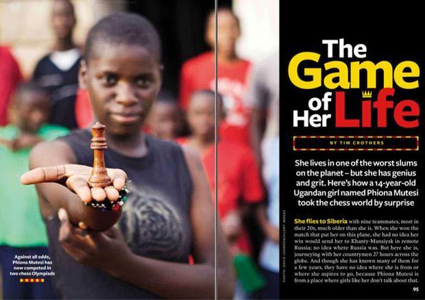 Phiona Mutesi From slum life to Disney film Ugandan Phiona Mutesi