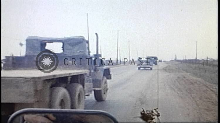 Phu Bai Combat Base Army jeeps enter Camp Holmes at Phu Bai Combat Base during US 3rd