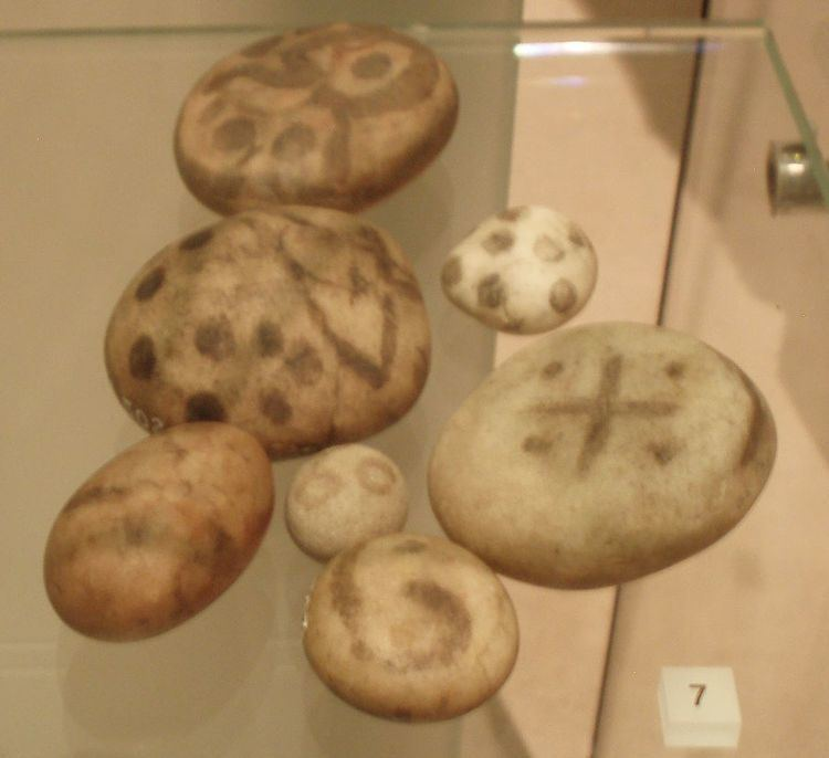 Pictish painted pebbles