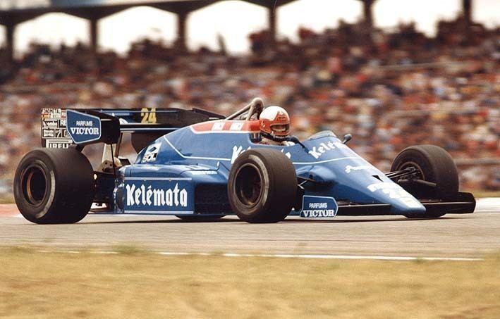 Piercarlo Ghinzani 1984 GP Niemiec Hockenheim Osella FA1F Alfa Romeo Piercarlo