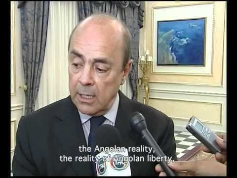 Pierre Falcone Pierre Falcone on Angolas public television at his visit to