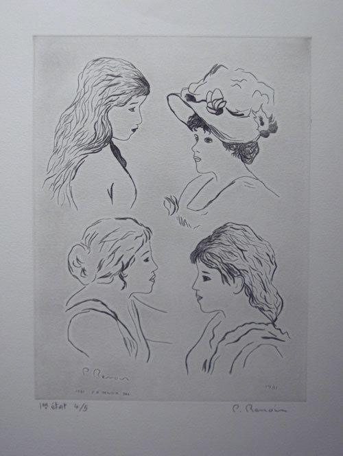 Pierre Roland Renoir Pierre Roland Renoir SN Drypoint Four Women eBay