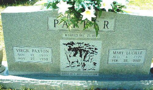 Pierson Parker Mary Lucille Pierson Parker 1921 2002 Find A Grave Memorial