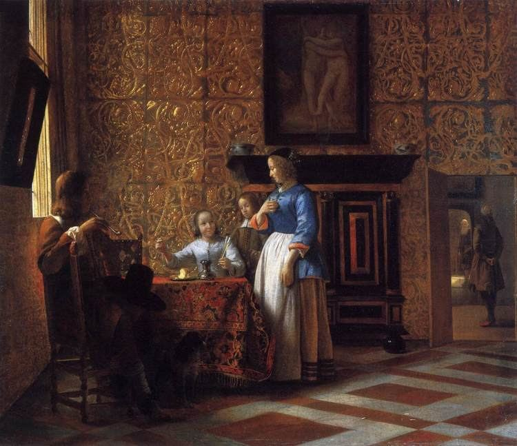 Pieter de Hooch Interior with Figures Pieter de Hooch WikiArtorg