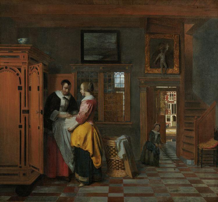 Pieter de Hooch FilePieter de Hooch At the Linen Closetjpg Wikimedia