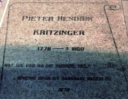 Pieter Hendrik Kritzinger Pieter Hendrik Kritzinger a1b1 c1778 1850 Genealogy