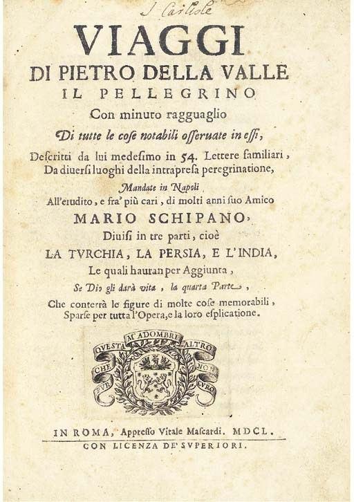 Pietro Della Valle Pietro della ValleAround the World in Eighty Years Around the