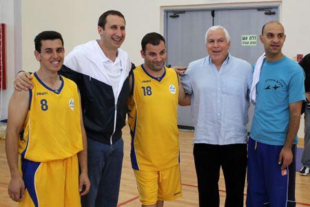 Pini Gershon Blatt and Pini Gershon Meet with Special Olympians