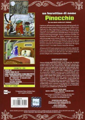 Pinocchio (1972 film) Un Burattino Di Nome Pinocchio Amazonit Giuliano Cenci Film e TV
