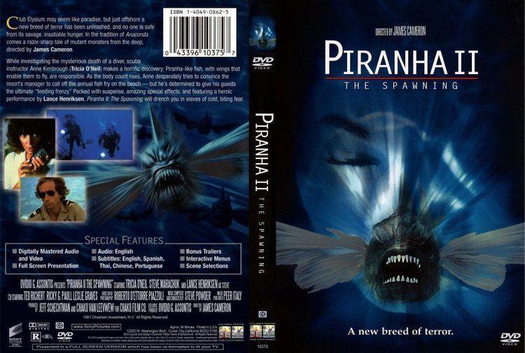 Piranha II: The Spawning Piranha II The Spawning Movie DVD Scanned Covers Piranha II