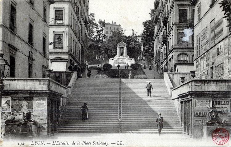Place Sathonay Photographes en RhneAlpesLyon L39Escalier de la Place Sathonay