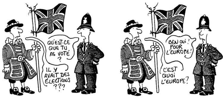 Plantu Cartoon by Plantu on the British referendum June 1975 CVCE Website