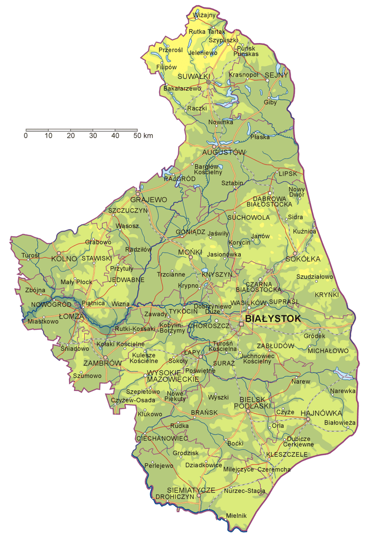 Podlaskie Voivodeship in the past, History of Podlaskie Voivodeship