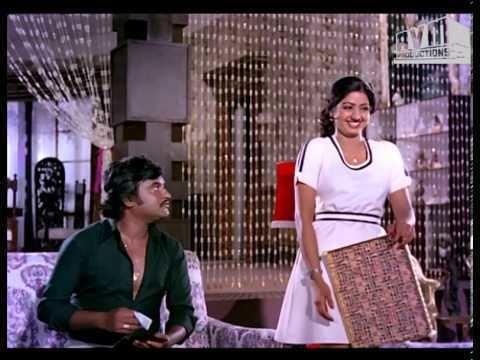 Pokkiri Raja (1982 film) Pokkiri Raja Ramesh irritates Sridevi Rajini Style YouTube