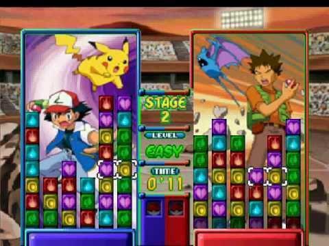 Pokémon Puzzle League Pokemon Puzzle league gameplay YouTube