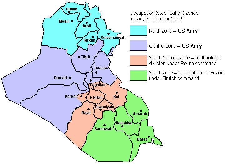 Polish zone in Iraq