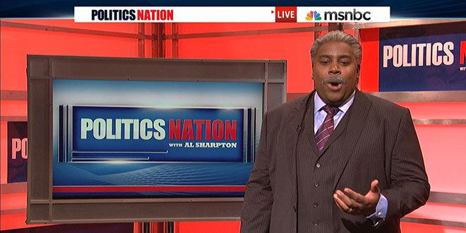 PoliticsNation with Al Sharpton SNL Sketch Parodies Al Sharpton39s MSNBC Show 39Politics Nation39