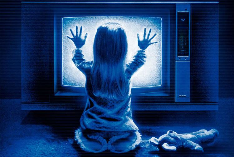 Poltergeist (1982 film) movie scenes  the Sony Trinitron KV 2643R was surprisingly hard to track down This 26 inch set is what passed for a Giant Screen television back in 1982