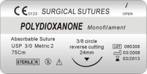 Polydioxanone China Polydioxanone Suture Thread Pdo Suture USP20 Surgical