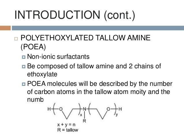 Polyethoxylated tallow amine httpsimageslidesharecdncompolyethoxylatedtal