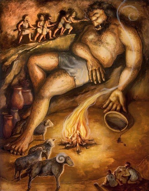 Polyphemus Unknown Artist The Cyclops Polyphemus blinded by Odysseus and His