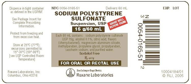 Polystyrene sulfonate SODIUM POLYSTYRENE SULFONATE Suspension USP