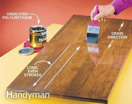 Polyurethane How to Apply Polyurethane The Family Handyman