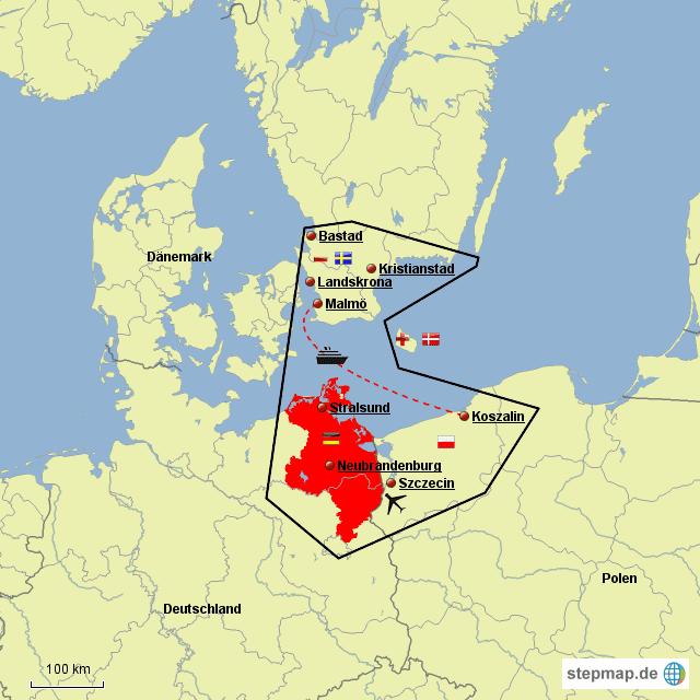 Pomerania Euroregion Euroregion Pomerania von Justin964 Landkarte fr Deutschland